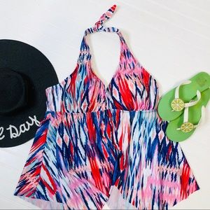 Swimsuits For All Hankie Halter Takini Top